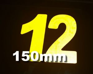 Reflective 150mm Race Numbers (1 to 10)